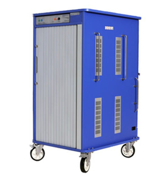 Front of Versatile Cart with Sliding Doors Closed