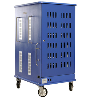 Back of Versatile Cart with Doors Closed