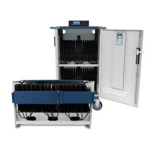 CS-1610 Essential 16 Charging Station and MD-1535 Ultra-Light Intelligent Charging Cart