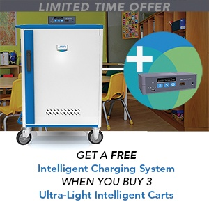 Get a free Intelligent Charging System with purchase of three Ultra-Light Carts with Intelligent Charging.