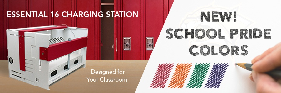 New! School Pride Colors for the Essential 16 Charging Station