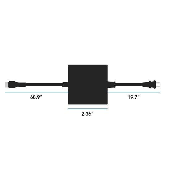 45 Watt USB-C AC Adapter Dimensions