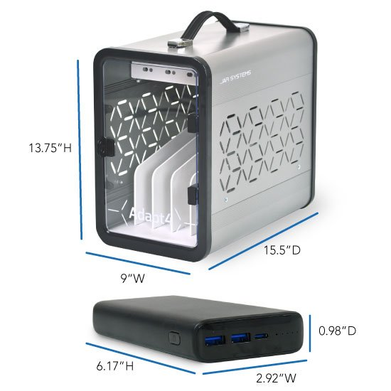 Adapt4 USB-C Charging Station Dimensions