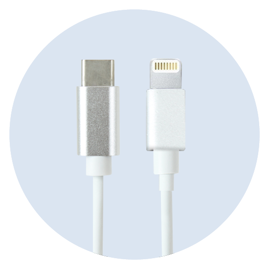 USB-C to lightning tip Cables