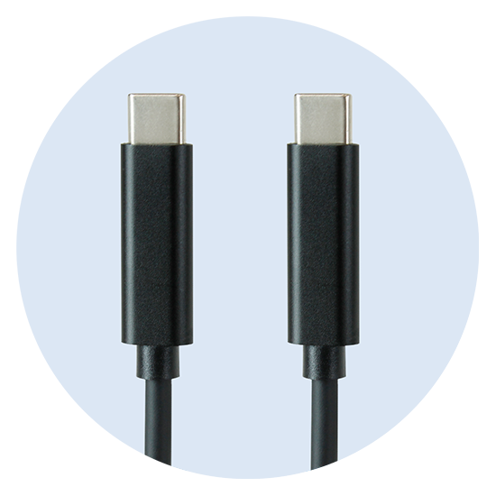 Included USB-C to USB-C Cables